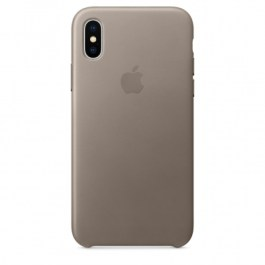 iPhone X Leather Case – Taupe