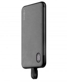Energea Integra L120 10000MAH Li-Poly USB-C Power Bank with Integrated Lightning Cable – Gunmetal