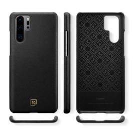 Spigen HUAWEI P30 Pro Case La Manon câlin Saffiano Black (Leather Case/Ver.2) L37CS26379