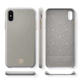 Spigen iPhone XS/X 5.8″ Case La Manon câlin – Oatmeal Beige (Leather Case) 063CS25322
