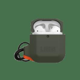 UAG AirPods 1/2 Silicone Case – Olive Drab/Orange