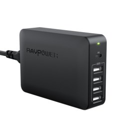 RAVPower RP-PC059 60W 5-Port USB PD Up to 45W – Black