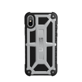 iPhone X (5.8 Screen) Monarch Case- Platinum/Black/Silver Logo- Retail Package