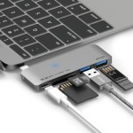 Elago Aluminum Charging Multi Hub USB-C – Dark Grey