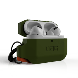 UAG AirPods Pro Silicone Case – Olive Drab/Orange