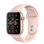 40mm Apple Watch 5 Gold Aluminum Case Pink Sand Sport Band Falcon