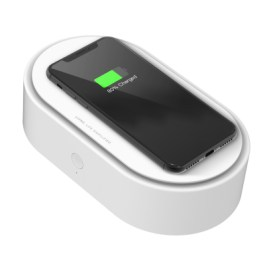 Uniq LYFRO Air Capsule UVC Disinfection Box with Fast Wireless Charging – White