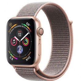 Series 4 44mm Gold Aluminum | Pink Sand Sport Loop