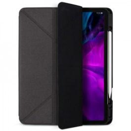 JTLEGEND AMOS iPad Pro 2020 – 12.9″ Amos QCAC Folio case with pencil holder- Dark Grey