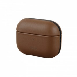 Uniq Terra Geniune Leather AirPods Pro Snap Case – Sepia ( Brown )