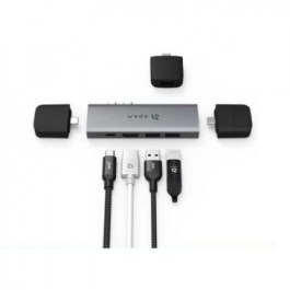CASA Hub 10E USB-C 10-in-2 Hub for 2018 MacBook Air, MacBook Pro – Gray