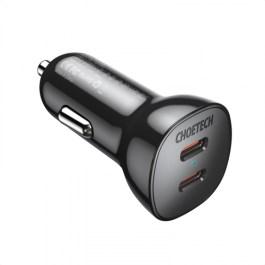 Choetech PD40W Dual USB-C / QC3.0 Car Charger