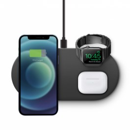 UNIQ AEREO MAG 3 IN 1 MAGNETIC FAST WIRELESS CHARGER (US) – Dark Grey