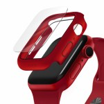 UNIQ NAUTIC Watch Case With IP68 WATER-RESISTANT TEMPERED GLASS 44MM – Red
