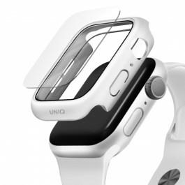 UNIQ NAUTIC Watch Case With IP68 WATER-RESISTANT TEMPERED GLASS 44MM – White