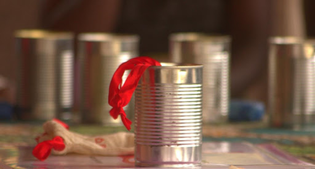 The tin given to the women and girls so that they can boil their cups clean each month. These are recycled and disinfected.
