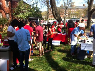 Over 30 people attended the Career Center Tailgate