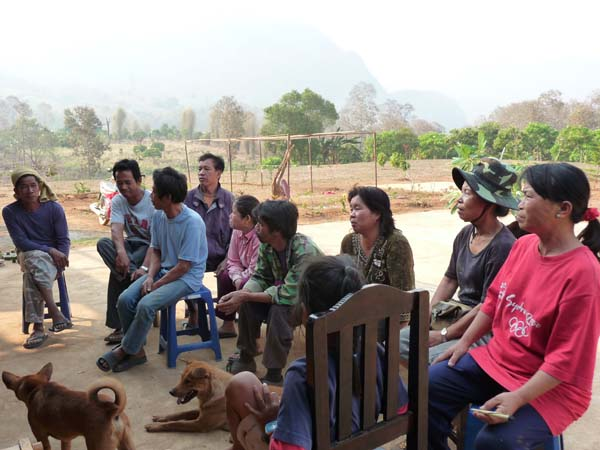 """Village representative gathering for the first """"Get-to know"""" session."""
