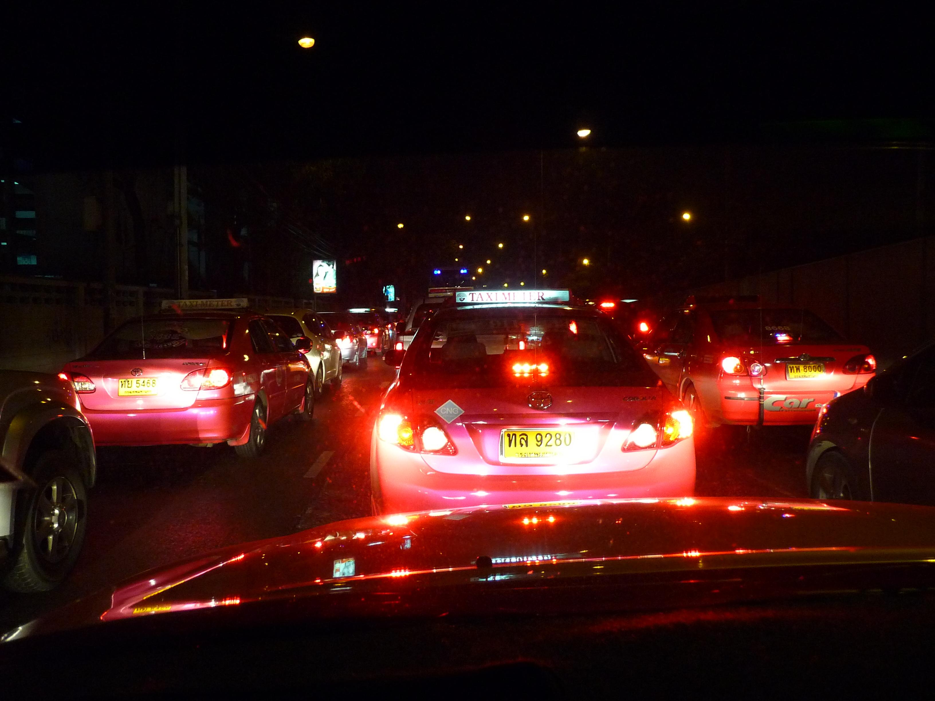 Traffic jam (One night in Bangkok)