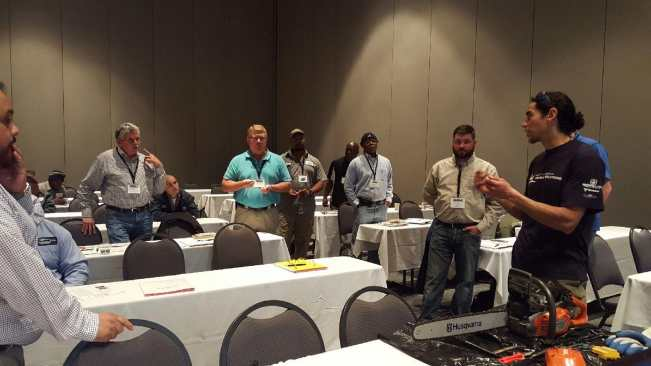 Chainsaw Safety Training at EDGE Expo 2015