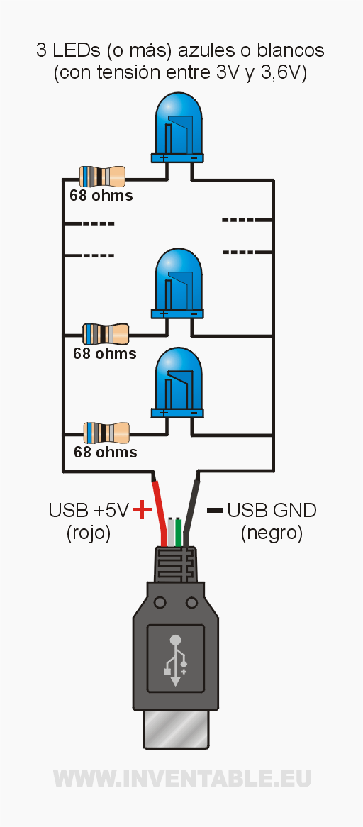 feed a led with usb