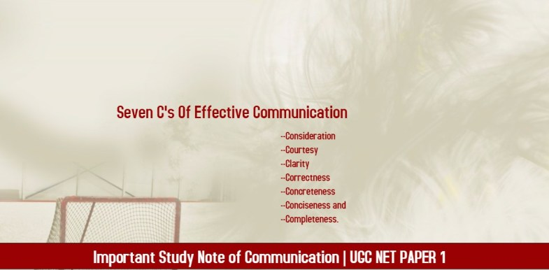 UGC NET Communication studuy notes