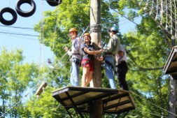 High Ropes at Orientation Camp