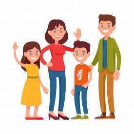familia-feliz-padres-ninos-madre-padre-nino-edad-escolar-nina-pie-juntos_108751-143