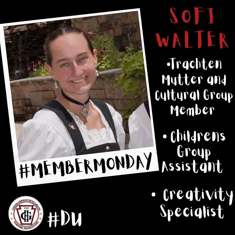 Member Monday - Sofi Walter