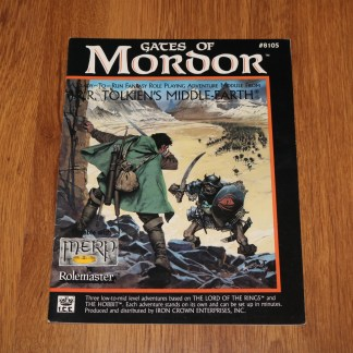 ugi games toys ice iron crown merp middle earth rpg book supplement gates of mordor 8105