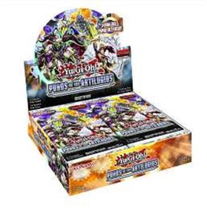 ugi games toys konami yugioh caja display sobres juego cartas puños de los artilugios