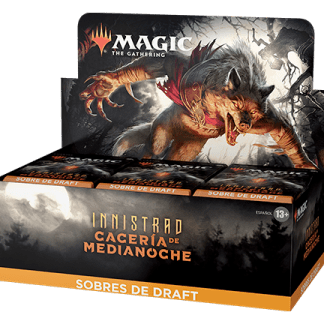 ugi games toys wizards coast mtg magic juego cartas español caja sobres draft innistrad caceria medianoche