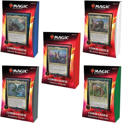 ugi games toys wizards coast mtg magic english card game ikoria commander decks