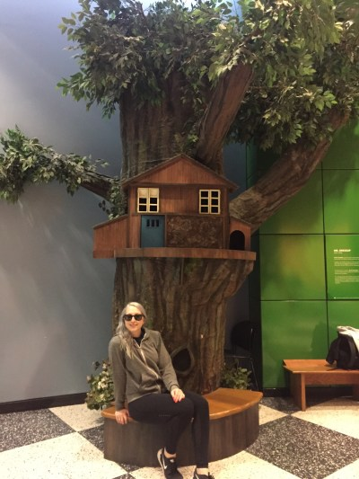 Hangin out with Casey and Finnegan in their treehouse. Where Mr. Dressup at.