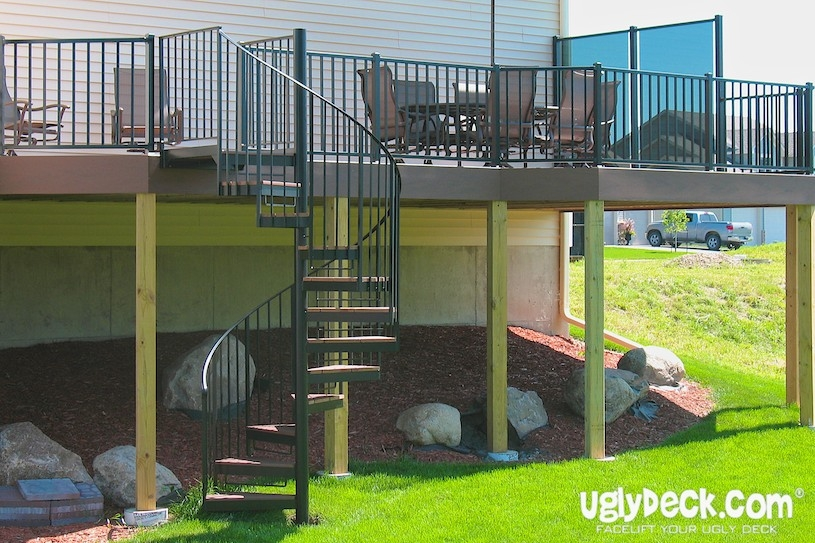 Twin Cities Outdoor Spiral Staircases – Minnesota Deck Builders | Used Spiral Staircase For Sale | 4 Foot | Corkscrew | Contemporary | Steel | Outdoor