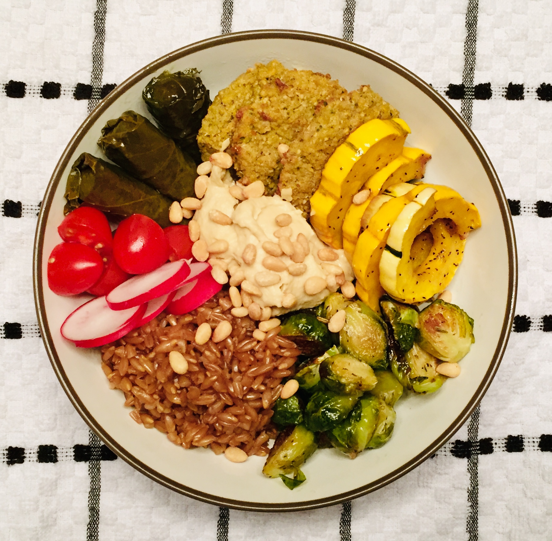 Grain Bowl with Maple Brussels Sprouts