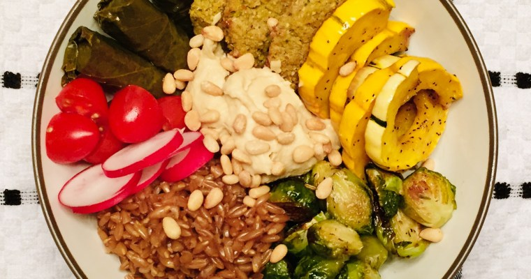Meatless Monday: Grain bowl with maple  roasted Brussels sprouts