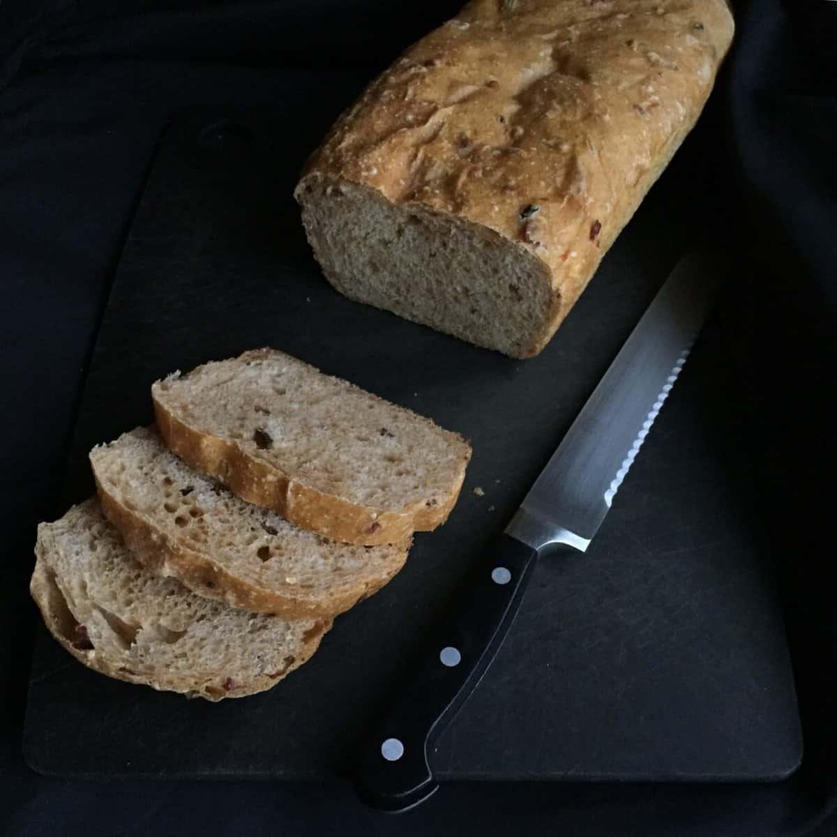 Sweet Potato Sourdough Bread with Bacon