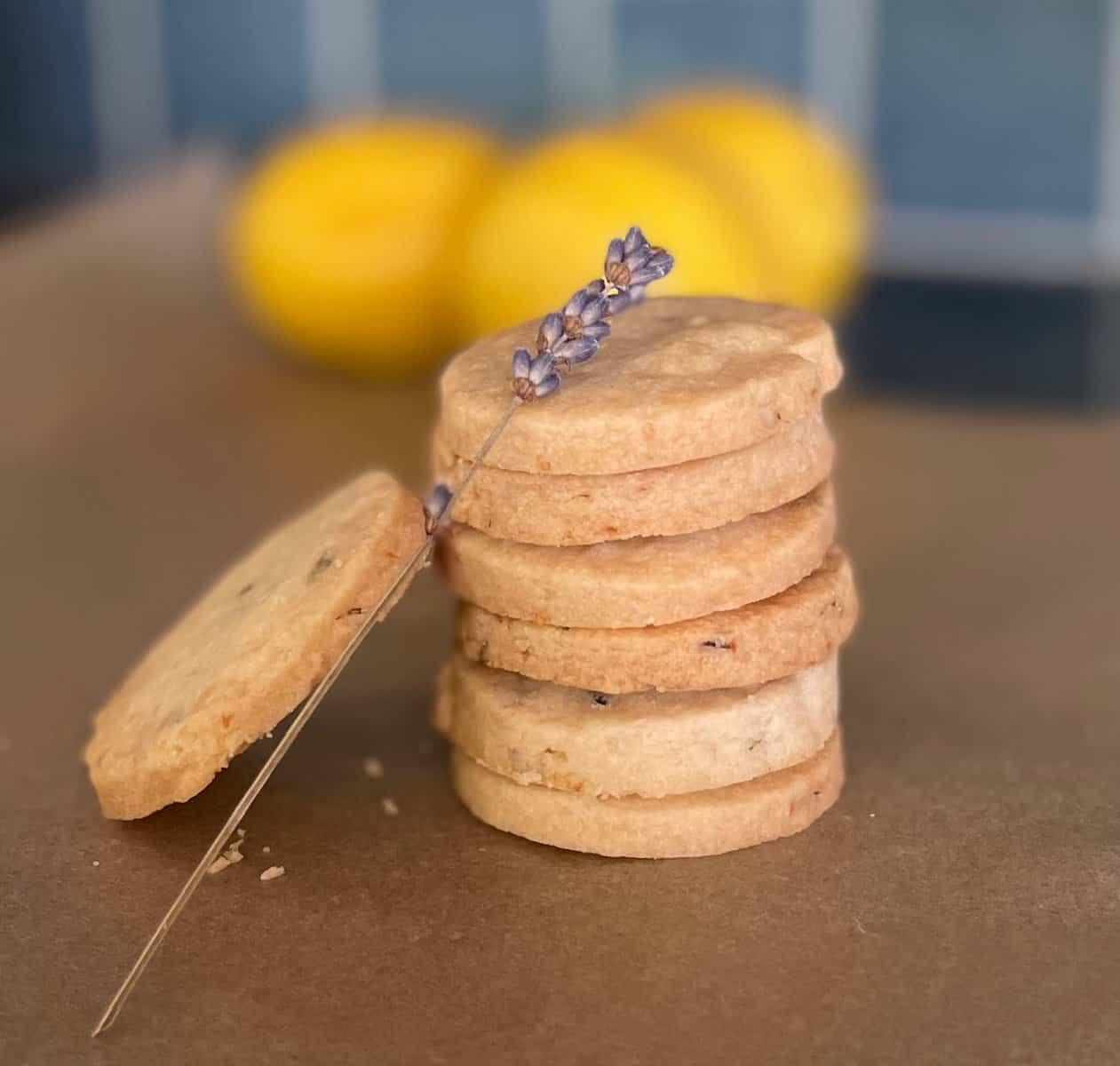 Lemon Lavender Cookies as Easy as 1-2-3