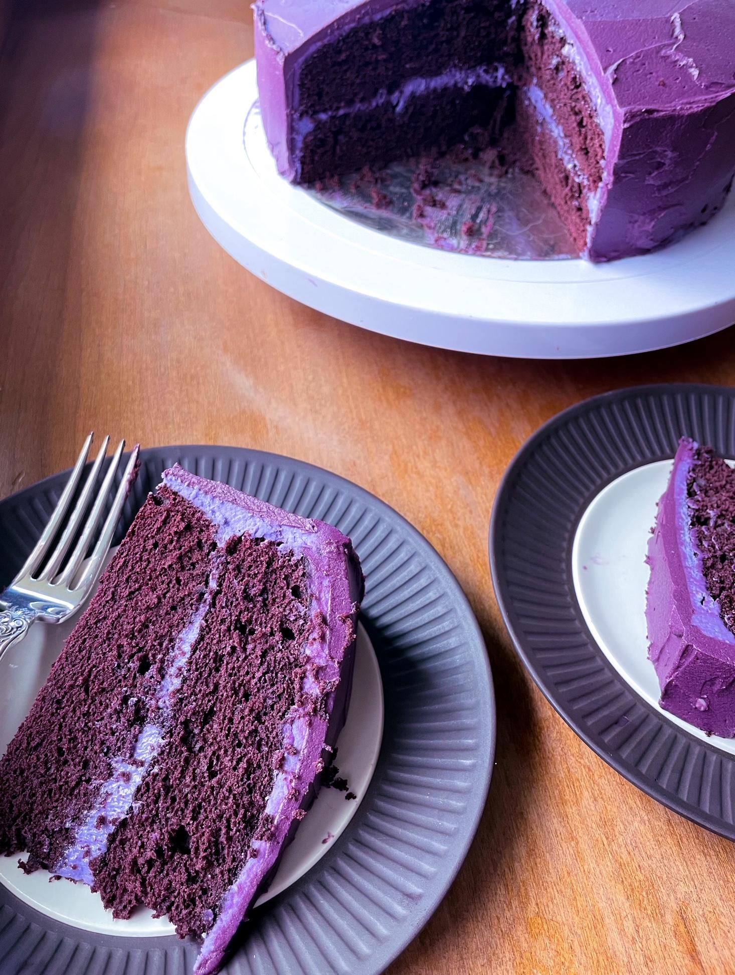 How to Make a Purple Velvet Cake