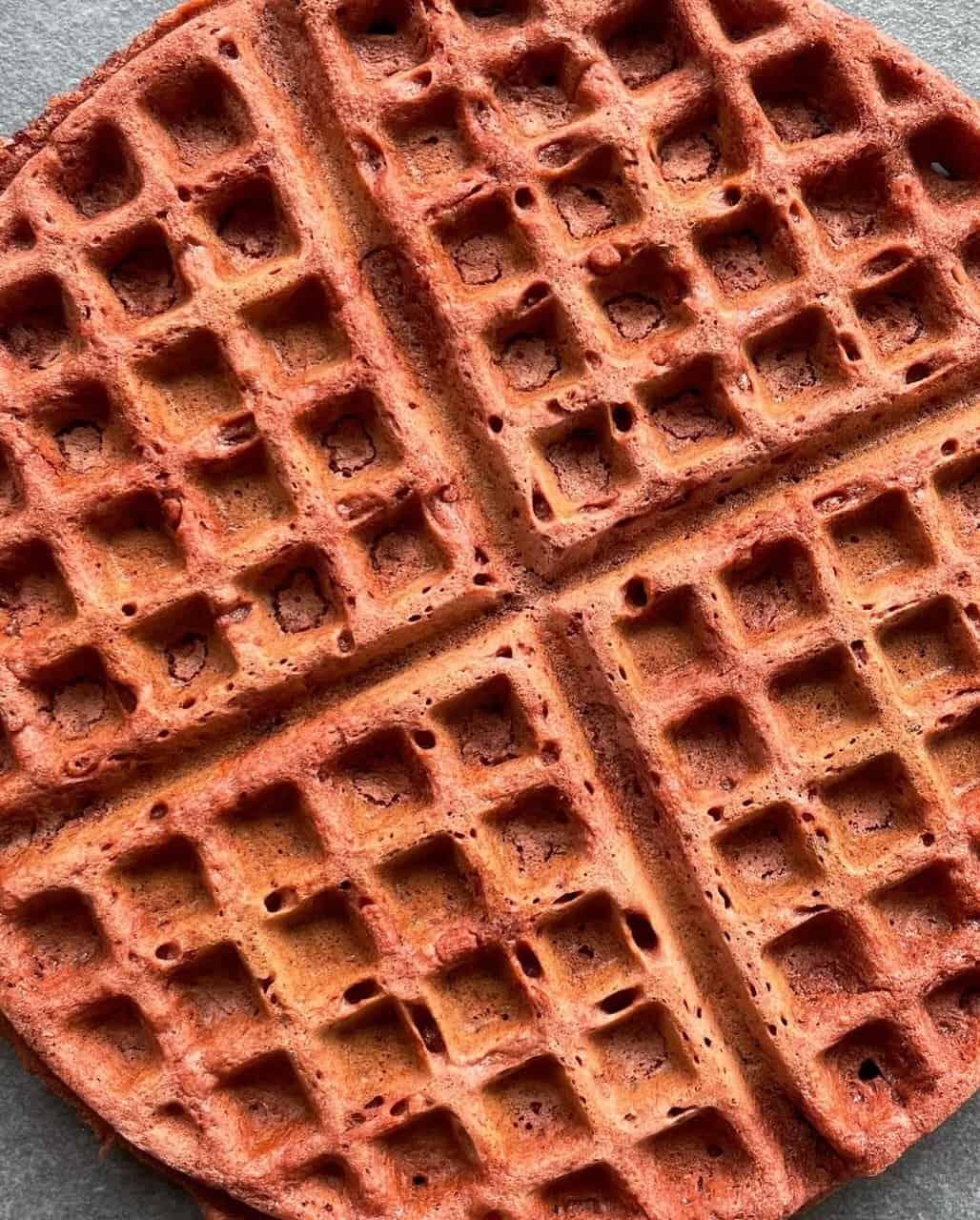Red velvet beet waffles