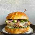 a BBQ quinoa and pinto bean burger on a plate