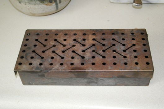 It's just a metal box with holes in it.