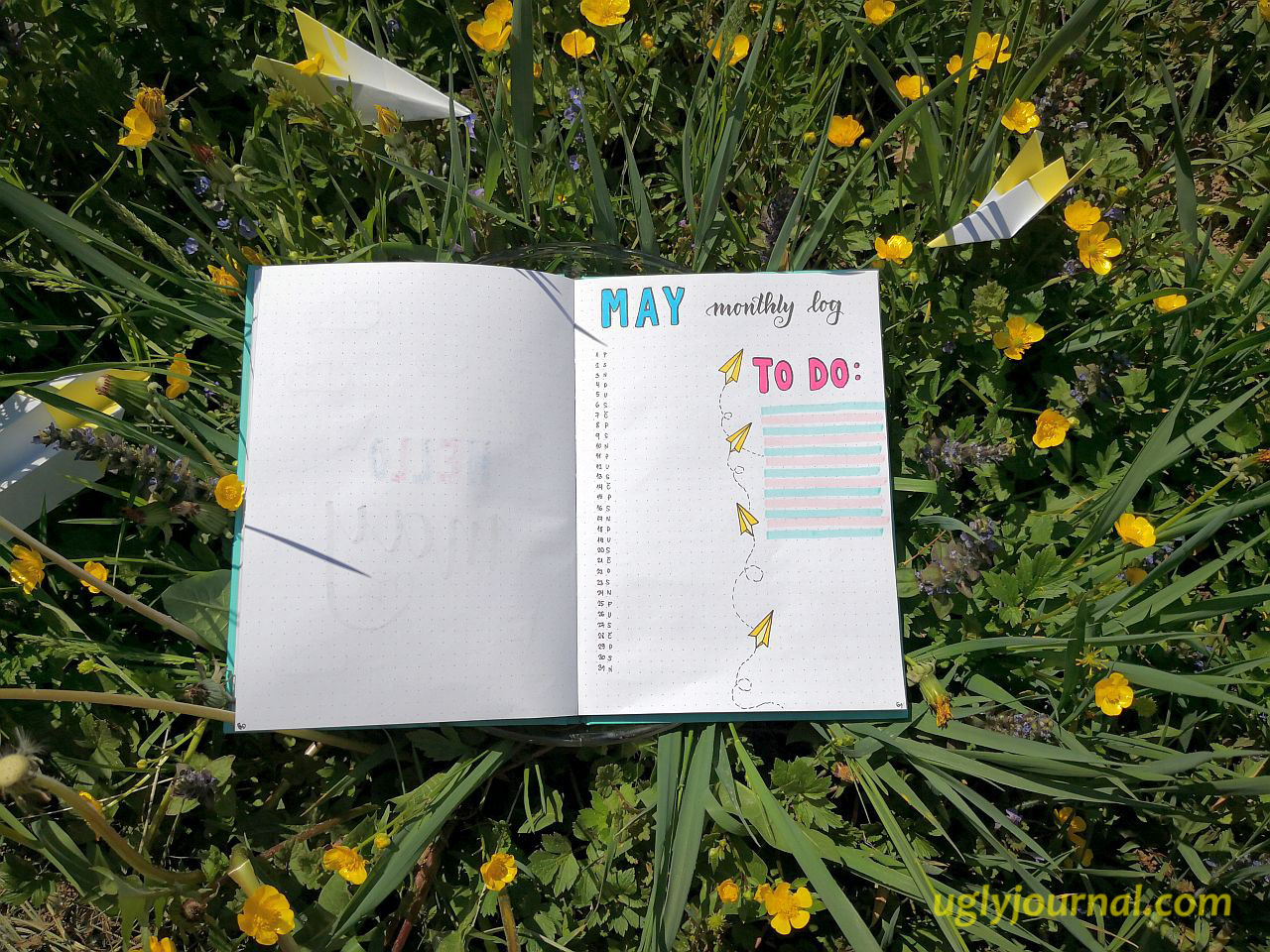 May Bullet journal Paper planes