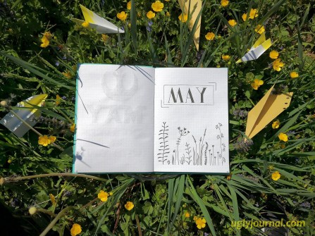 May Bullet journal May flowers