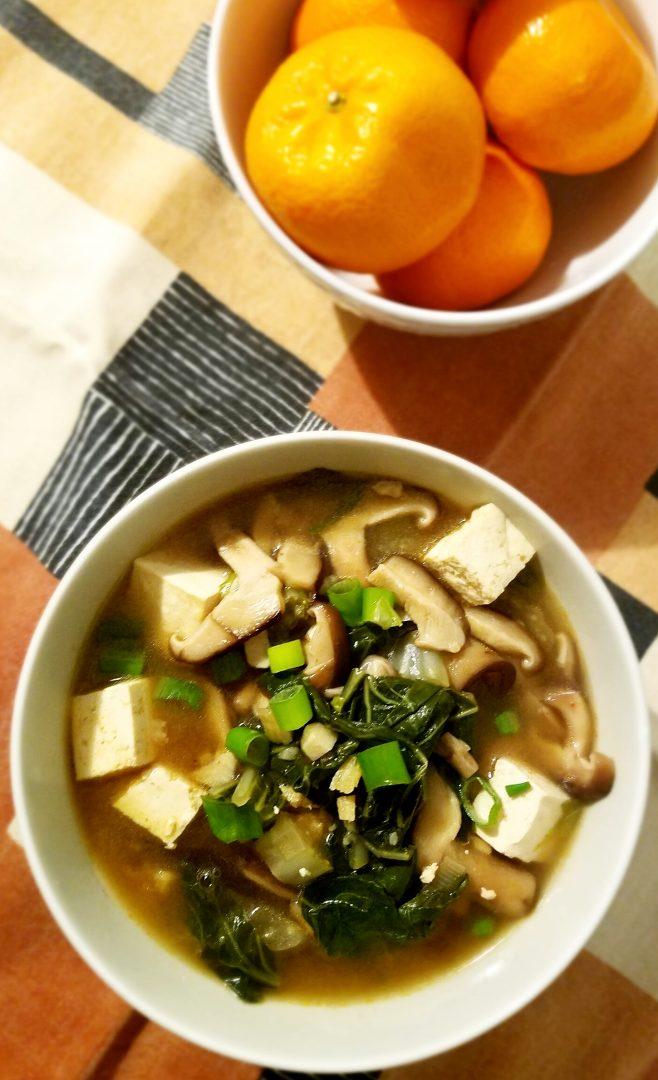 Miso Soup Shiitake Tofu