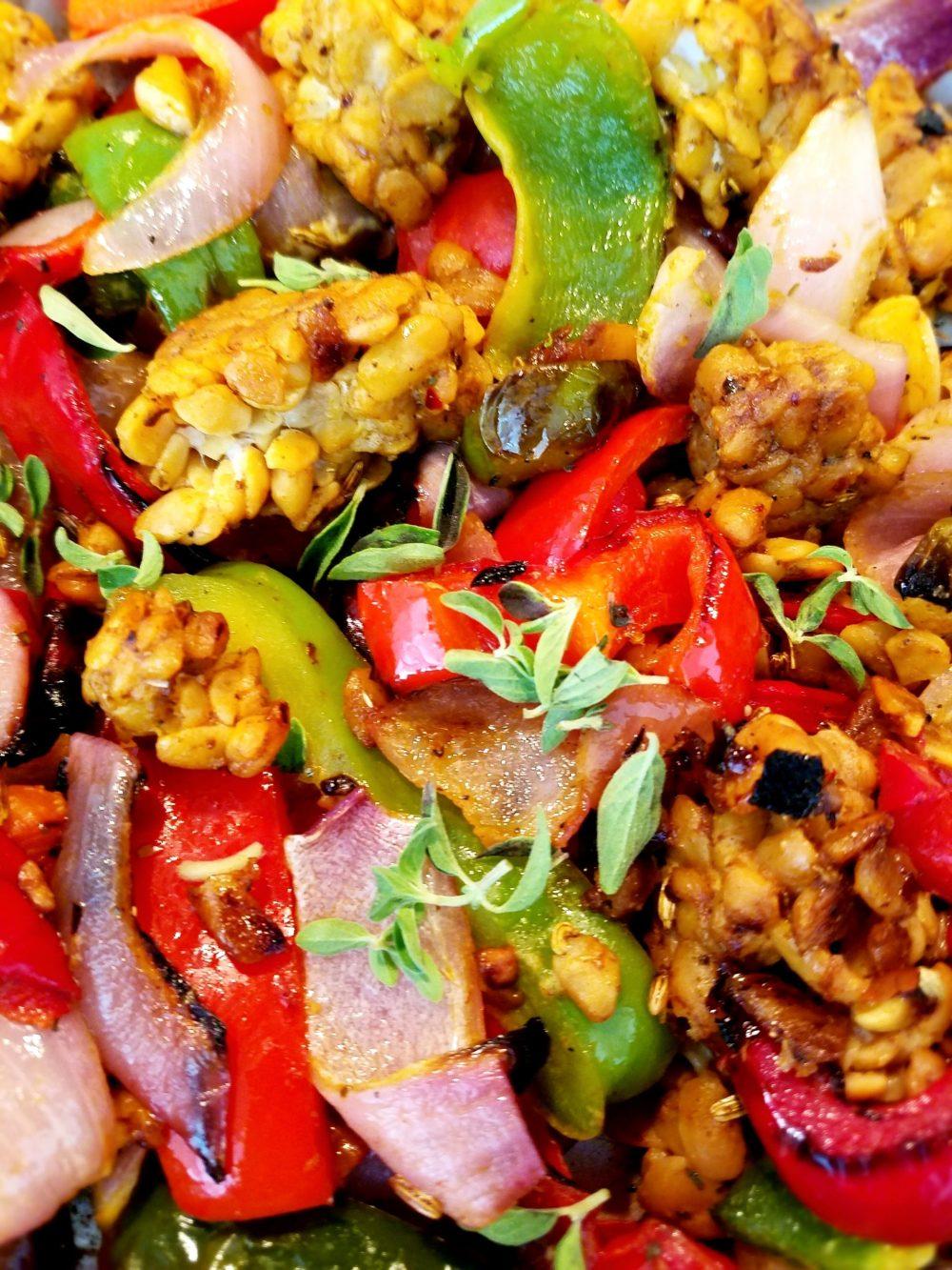 Vegan Farro Grain Bowl Recipe with Tempeh
