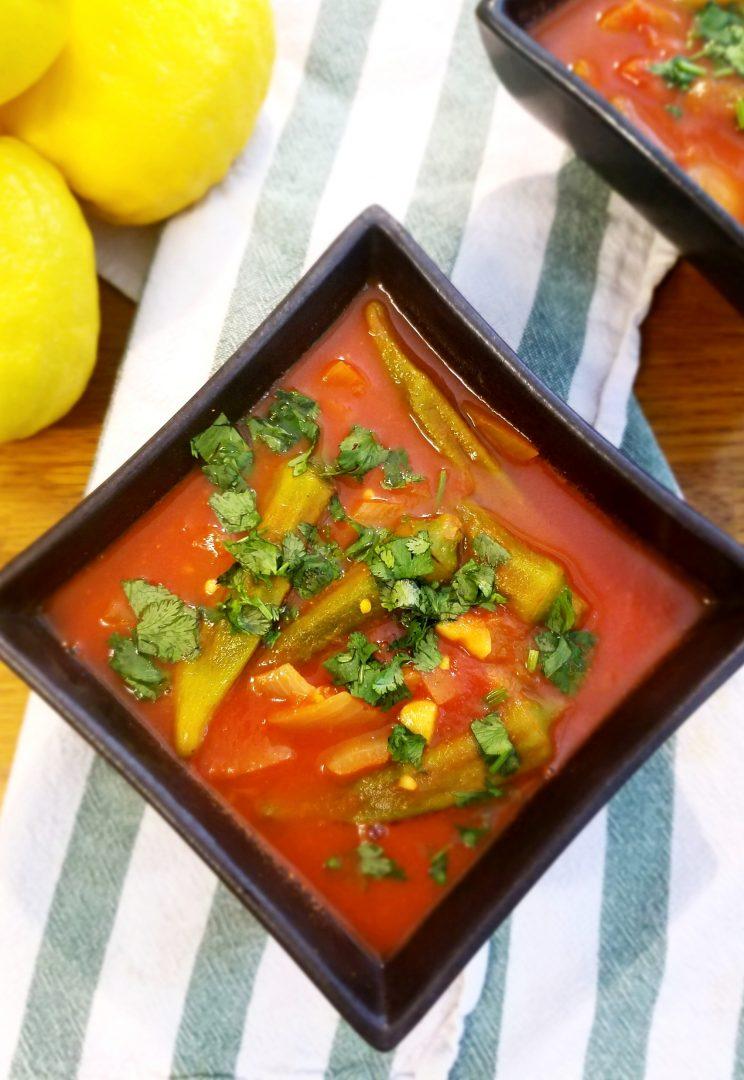 Vegan Soup with Okra