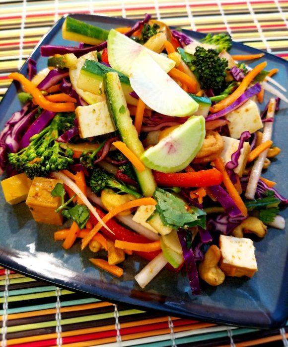 Vegan Thai Veggie Salad Recipe