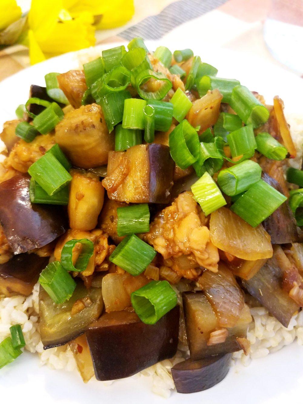 Vegan Filipino Eggplant and Tempeh